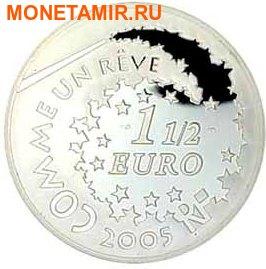 Франция 1,5 евро 2005 набор из 3-х монет. «Привет Котенок – Hello Kitty». (фото, вид 4)