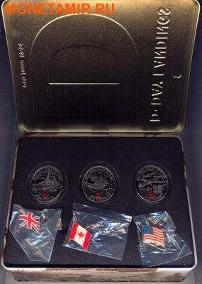 Олдерни, Гернси, Джерси 3х5 фунтов 2004.60 лет празднования Дня-Д (набор из трех монет).Арт.000700046986/60 (фото, вид 4)