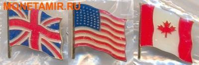 Олдерни, Гернси, Джерси 3х5 фунтов 2004.60 лет празднования Дня-Д (набор из трех монет).Арт.000700046986/60 (фото, вид 8)