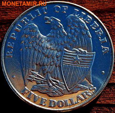 Либерия 5 долларов 2001. «Сражение за форт Самтер, Гражданска война».Арт.000035547506 (фото, вид 1)