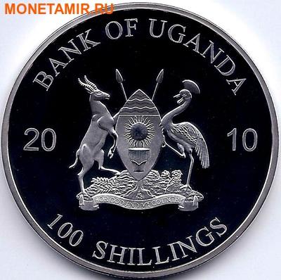 Уганда 100 шиллингов 2010. «Пума» серия «Животные людоеды».Арт.000044347483 (фото, вид 1)