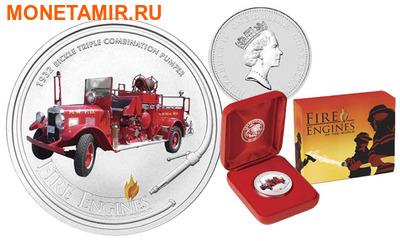 Острова кука 1 доллар 2005. «BICKLE 1932» - «Пожарные машины мира».Арт.000200046725 (фото, вид 1)