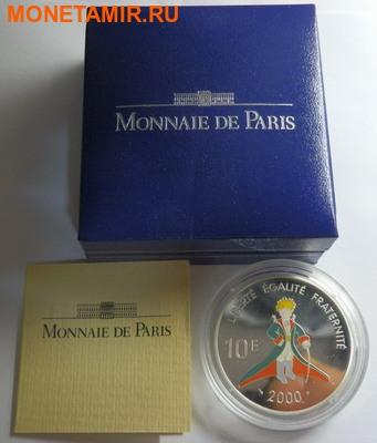 """Франция 10 франков 2000. Антуан де Сент-Экзюпери """"Маленький принц"""".Арт.000271218599 (фото, вид 2)"""