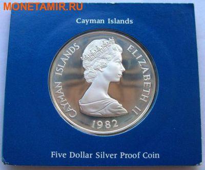 Каймановы острова 5 долларов 1982. Черепаха. 150 лет парламенту.Арт.000110447673 (фото, вид 1)
