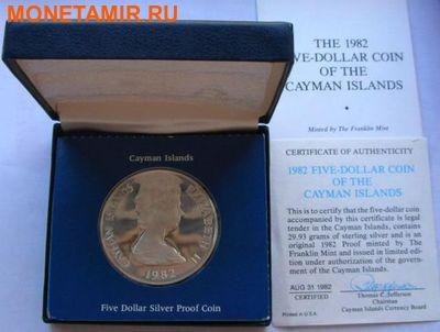 Каймановы острова 5 долларов 1982. Черепаха. 150 лет парламенту.Арт.000110447673 (фото, вид 2)