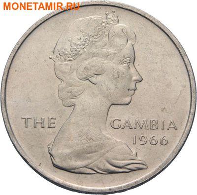 Гамбия 4 шиллинга 1966. Крокодил.Арт.000020647629 (фото, вид 1)