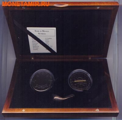 Набор из двух монет Конго Дем. Респ. 10 франков 2004. Либерия 10 долларов 2004. Время деньги – компас и солнечные часы.Арт.000231610274 (фото, вид 3)