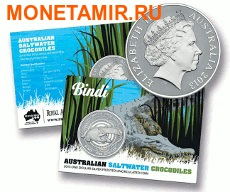 Австралия 1 доллар 2013. Австралийский Морской Крокодил – Бинди. (фото, вид 2)