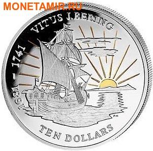 Британские Виргинские острова набор 2x10 долларов 2011. Корабль. Витус Беринг.Арт.000422145018 (фото, вид 2)