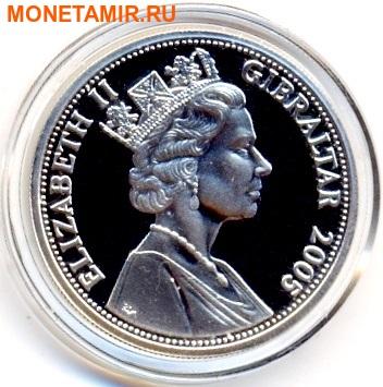 Гибралтар 5 фунтов 2005. Наполеон. 200 лет Трафальгарскому сражению.Арт.000110447676 (фото, вид 1)