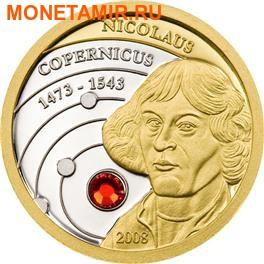 Острова Кука набор 5 + 10 долларов 2008. «Николай Коперник».Арт.000623619898 (фото, вид 2)