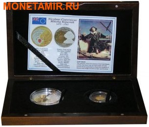 Острова Кука набор 5 + 10 долларов 2008. «Николай Коперник».Арт.000623619898 (фото, вид 4)