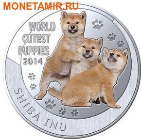 Ниуэ 1 доллар 2014. Набор 5 монет. Мир симпатичных щенков – Шиба-Ину, Тигр, Померанский шпиц, Красная панда, Коала. Арт.000247747799 (фото, вид 1)
