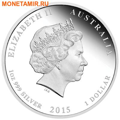 Австралия 1 доллар 2015. Лунный календарь – Год Козы. (фото, вид 1)