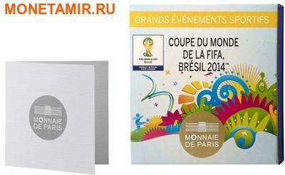 Франция 10 евро 2014. Футбол – ФИФА 2014 – Чемпионат мира в Бразилии.Арт.000100048519 (фото, вид 3)
