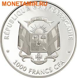 Центрально-Африканская Республика 1000 франков 2014.Бабочка 3D – «Золотистый лесничий».Арт.000236848398 (фото, вид 1)