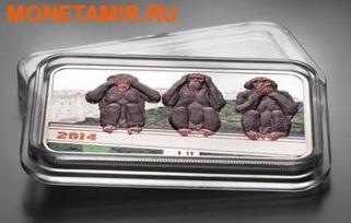 Танзания 1000 шиллингов 2014.Три обезьяны.Арт.000100048833 (фото, вид 1)
