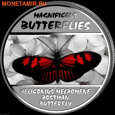 Демократическая Республика Конго 4х30 франков 2014.Набор из четырех монет. Прекрасные бабочки – ультрафиолет.Арт.000775847927 (фото, вид 2)