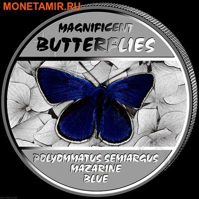 Демократическая Республика Конго 4х30 франков 2014.Набор из четырех монет. Прекрасные бабочки – ультрафиолет.Арт.000775847927 (фото, вид 3)