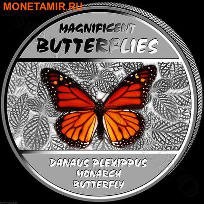 Демократическая Республика Конго 4х30 франков 2014.Набор из четырех монет. Прекрасные бабочки – ультрафиолет.Арт.000775847927 (фото, вид 4)
