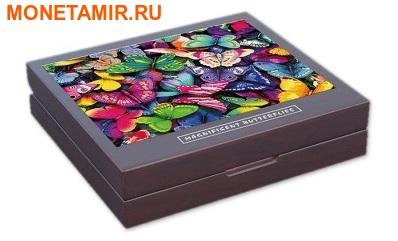 Демократическая Республика Конго 4х30 франков 2014.Набор из четырех монет. Прекрасные бабочки – ультрафиолет.Арт.000775847927 (фото, вид 8)