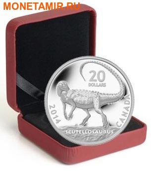 Канада 20 долларов 2014.Динозавр – Скутеллозавр серия Канадские динозавры.Арт.000260445725 (фото, вид 2)