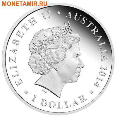 Австралия 1 доллар 2014.Ящерица - Мегалания серия «Мегафауна».Арт.000257948155 (фото, вид 1)