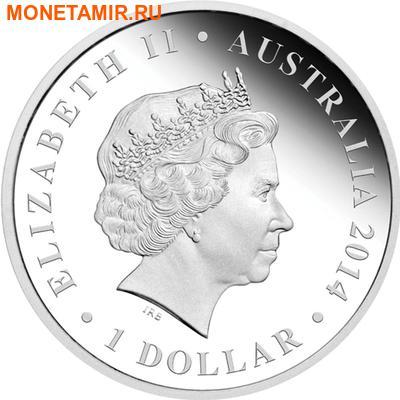 Австралия 1 доллар 2014.Дипротодон серия «Мегафауна».Арт.000240546270 (фото, вид 1)