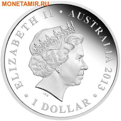 Австралия 1 доллар 2013.Кенгуру - Прокоптодон серия «Мегафауна».Арт.000233945632 (фото, вид 1)