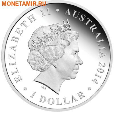 Австралия 1 доллар 2014.Гениорнис серия Мегафауна».Арт.000251148144 (фото, вид 1)