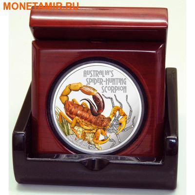 Тувалу 1 доллар 2014 Скорпион серия Смертельно Опасные (Tuvalu 1$ 2014 Deadly and Dangerous Spider Hunting Scorpion 1oz Silver Coin).Арт.000276948660/92 (фото, вид 2)