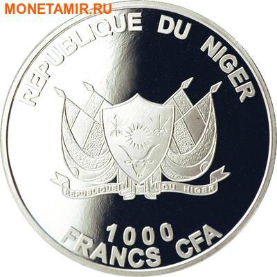 """Нигер 1000 франков 2013""""Лиса"""" серия """"Великолепные животные Африки"""".Арт.001000047538 (фото, вид 1)"""