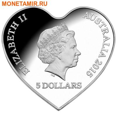 Австралия 5 долларов 2015.Вечная любовь – Сердце.Арт.000524449269/60 (фото, вид 1)