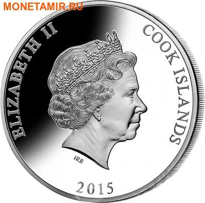Острова Кука 25 долларов 2015 Пароход Миссисипи Перламутр (Cook Isl 25$ 2015 Mississippi Steamboat Mother of Pearl 5Oz Silver Coin Proof).Арт.001891250055 (фото, вид 1)