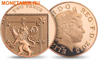 Великобритания Полный Годовой Набор 2015 (The 2015 UK Brilliant Uncirculated Annual Coin Set).Арт.60 (фото, вид 12)