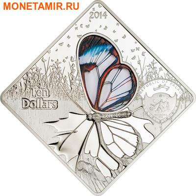 Палау 10 долларов 2014.Бабочка Грета Ото серия Животные в стекле.Арт.000700350077 (фото, вид 1)