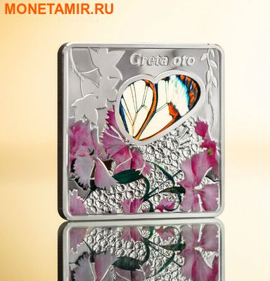 Палау 10 долларов 2014.Бабочка Грета Ото серия Животные в стекле.Арт.000700350077 (фото, вид 2)