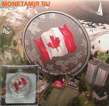 Канада 25 долларов 2015.Флаг Канады - 50 лет. (фото, вид 2)