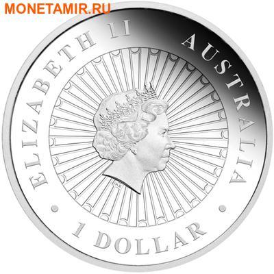 Австралия 1 доллар 2014.Тасманийский дьявол – Опал. (фото, вид 1)