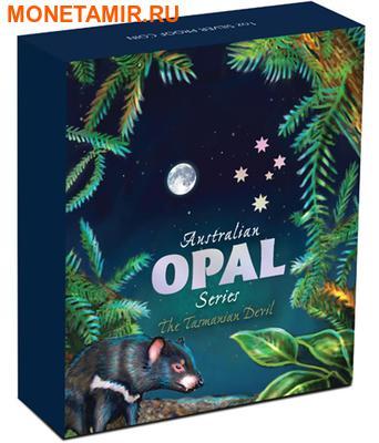 Австралия 1 доллар 2014.Тасманийский дьявол – Опал. (фото, вид 3)