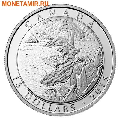Канада 3х15 долларов 2015.Франклин Кармайкл – картины. (фото, вид 2)