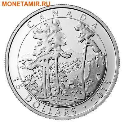 Канада 3х15 долларов 2015.Франклин Кармайкл – картины. (фото, вид 3)