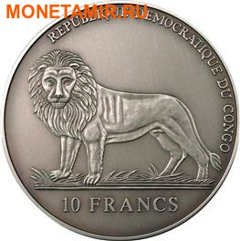 Конго 10 франков 2005.Морской календарь на 50 лет. (фото, вид 1)