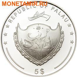 Палау 5 долларов 2008.Жемчужина моря серия Защита морской жизни. (фото, вид 1)