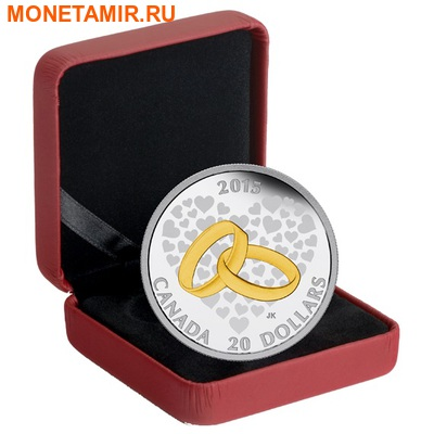 Канада 20 долларов 2015.Свадьба (два кольца). (фото, вид 2)