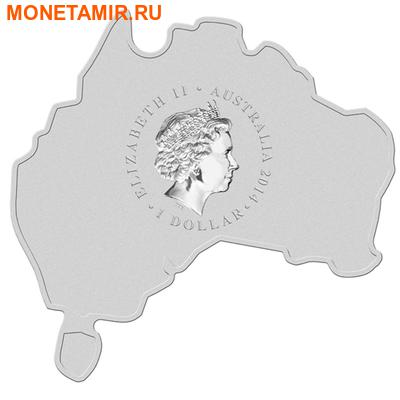 Австралия 1 доллар 2014.Морской крокодил серия Карта Австралии.Арт.000461149262 (фото, вид 1)