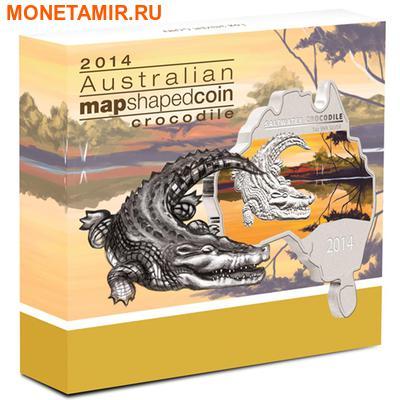 Австралия 1 доллар 2014.Морской крокодил серия Карта Австралии.Арт.000461149262 (фото, вид 3)