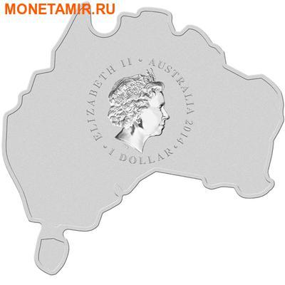 Австралия 1 доллар 2014.Коала серия Карта Австралии.Арт.000253248168 (фото, вид 1)