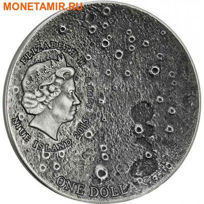 Ниуэ 1 доллар 2015.Метеорит Лунный.Солнечная система - Луна. (фото, вид 3)