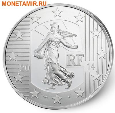 Франция 10 евро 2014.Денье 864 года. Монеты на монетах.Арт.000173548484 (фото, вид 1)